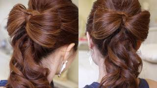 getlinkyoutube.com-Beautiful Wedding Hair Bow Tutorial