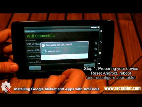 Install Google Market and Apps on your Archos (101/70/43/32/28) Internet Tablet with ArcTools