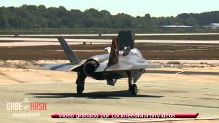 getlinkyoutube.com-PRIMER DESPEGUE VERTICAL DE AVIÓN (F-35B) 25 DE MAYO 2013
