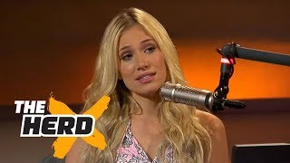 getlinkyoutube.com-Kristine Leahy: Some players flash female reporters in the locker room | THE HERD