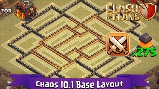 getlinkyoutube.com-Clash Of Clans: TH10 | BEST Clan War Base Layout (275 Walls) - Chaos 10.1
