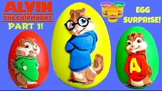 getlinkyoutube.com-Alvin and the Chipmunks: The Road Chip PART 1 feat. SIMON Play-doh Egg Surprise // TUYC