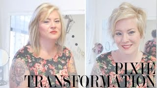 getlinkyoutube.com-Pixie Haircut Transformation - Jaime's Pixie Before and After