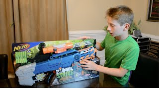 Nerf Zombie Strike CS-12 Longshot Unboxing and Review