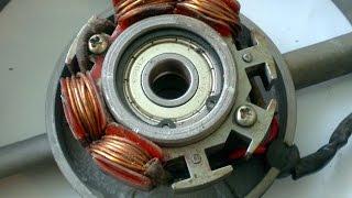 Ремонт электрического генератора YFF1690 для мотоблока Forte HSD1G-121E