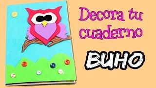 getlinkyoutube.com-DECORA tu cuaderno con goma eva o foamy * Libreta en forma de BÚHO