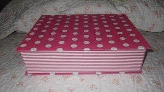 getlinkyoutube.com-como fazer porta joia com capa de caderno forrado em tecido