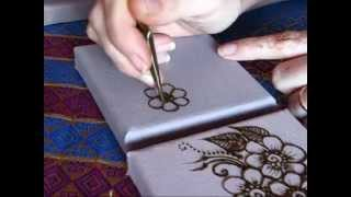 getlinkyoutube.com-Henna Application on Canvas