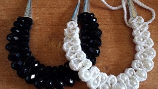 getlinkyoutube.com-Collana perle e Crochet - tutorial uncinetto bijoux