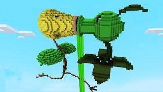 Minecraft vs Pokemon go | GIGA BELLSPROUT VS PEASHOOTER | (PvZ/Pokego Land)
