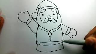 สอนวาดซานตาครอสง่ายๆ How to draw a Santa Claus