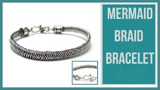 getlinkyoutube.com-Mermaid Wire Braid Bracelet Tutorial - Beaducation.com