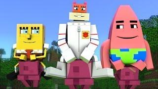 "getlinkyoutube.com-""Spongebob in Minecraft 4"" - Animation"