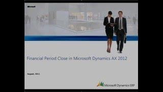 Microsoft Dynamics AX: Running Period End Close