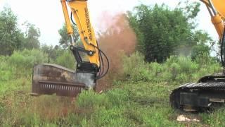 getlinkyoutube.com-Excavator mulchers - Land clearing equipment - Forestry mulcher - DENISCIMAF.com