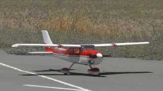 Scale Phoenix RC Cessna 182 RC Model Flight - Takeoff, Lowpasses and Landing - By Costas Theodorou