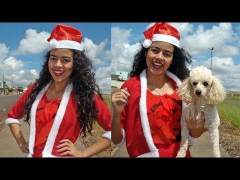Tutorial de Natal roupa de Papai e Mamãe NOEL  Alana Santos Blogger