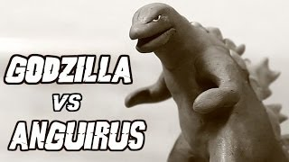 getlinkyoutube.com-Godzilla vs Anguirus | Kaiju Claymation Fight