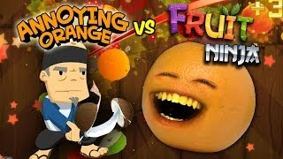 getlinkyoutube.com-Annoying Orange Vs. Fruit Ninja