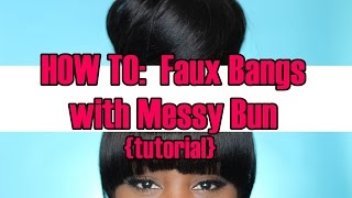 getlinkyoutube.com-HOW TO:  Make Removable Bangs and a Messy Bun Tutorial