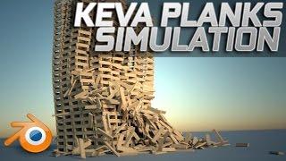 getlinkyoutube.com-Massive Keva Planks Simulation - Blender [HD - 60FPS]