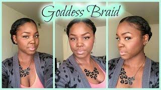 getlinkyoutube.com-Protective Style|Goddess Braid (Relaxed Hair)
