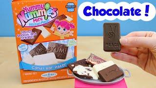 getlinkyoutube.com-Yummy Nummies Candy Bar Maker Mini Milk and White Chocolate