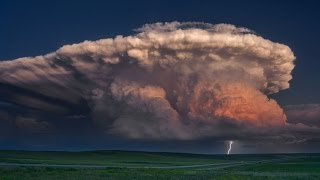 getlinkyoutube.com-A STORM OF COLOR Time Lapse - Isolated Supercell, tornado, rainbow and lightning storm
