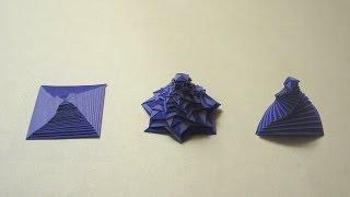 Origami Instructions: Single Strip Square Curlicue (Assia Brill)