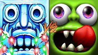 getlinkyoutube.com-Temple Run 2 Vs Zombie Tsunami | New Characters Santa Claus