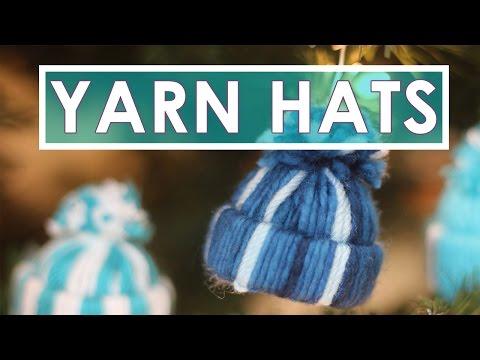 Yarn Hat Holiday Ornaments | Easy DIY Craft