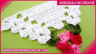 getlinkyoutube.com-Motivo Triângulo de Crochê Floral - Aprendendo Crochê