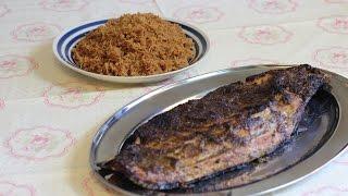 مطبخ الاكلات العراقيه  - سمك مشوي بالتمر الهندي والرز المحمر