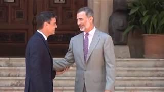 Despacho de S.M. el Rey con el Presidente del Gobierno, Pedro Sánchez
