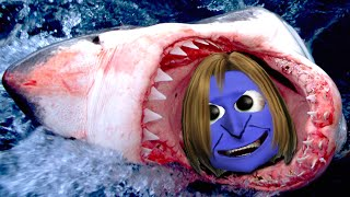 getlinkyoutube.com-ゲーム 実況! 面白いホラーゲームアプリ (青鬼のホラーゲーム実況)Hungry Shark!