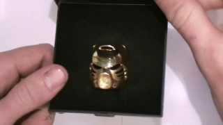 getlinkyoutube.com-Bionicle Review: Solid 14K Gold Kanohi Hau