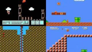 getlinkyoutube.com-TAS Super Mario Bros. 1 2 2J 3 Quad run in 10:39.75