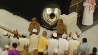 getlinkyoutube.com-Subhanallah Emotional Beautiful Azan and Touching Hajr e Aswad Black Stone in Makkah  January 2016
