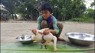 White Swans Cooking By Children Of Village For Their Picnic Food - Tasty Duck Curry