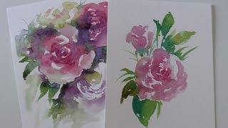 getlinkyoutube.com-Tutorial Acuarelas: como pintar una ROSA humedo sobre seco by ART Tv