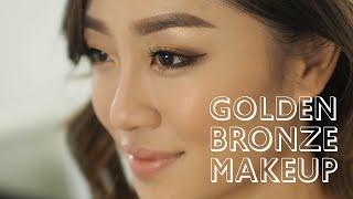getlinkyoutube.com-Golden Bronze Makeup