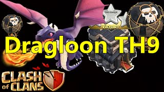 getlinkyoutube.com-[JLcoc] Dragloon 3 star th9! Unique!
