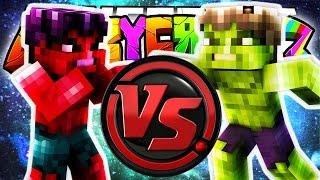 getlinkyoutube.com-Minecraft Crazy Craft 3.0: RED HULK VS THE HULK! (Superheros Mod)! #98