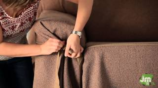 How to Put an Elegant Fitted Sofa Cover width=