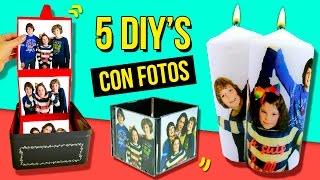 5 REGALOS FÁCILES Y BONITOS para SAN VALENTIN * MANUALIDADES DIY's con FOTOS 🎞 para REGALAR *