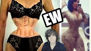 getlinkyoutube.com-Corset Training Fail (Before And After)