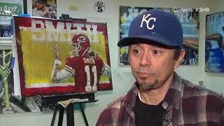 Un artista latino, sorprende con su arte relacionado a figuras del deporte local.