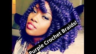 getlinkyoutube.com-Purple Montego Twist Crochet Braids!