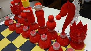 getlinkyoutube.com-Plastic Bottle Art and Craft: Chess out of Plastic Bottles
