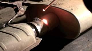 getlinkyoutube.com-89 Cherokee Amateur Stick Welding Exhaust
